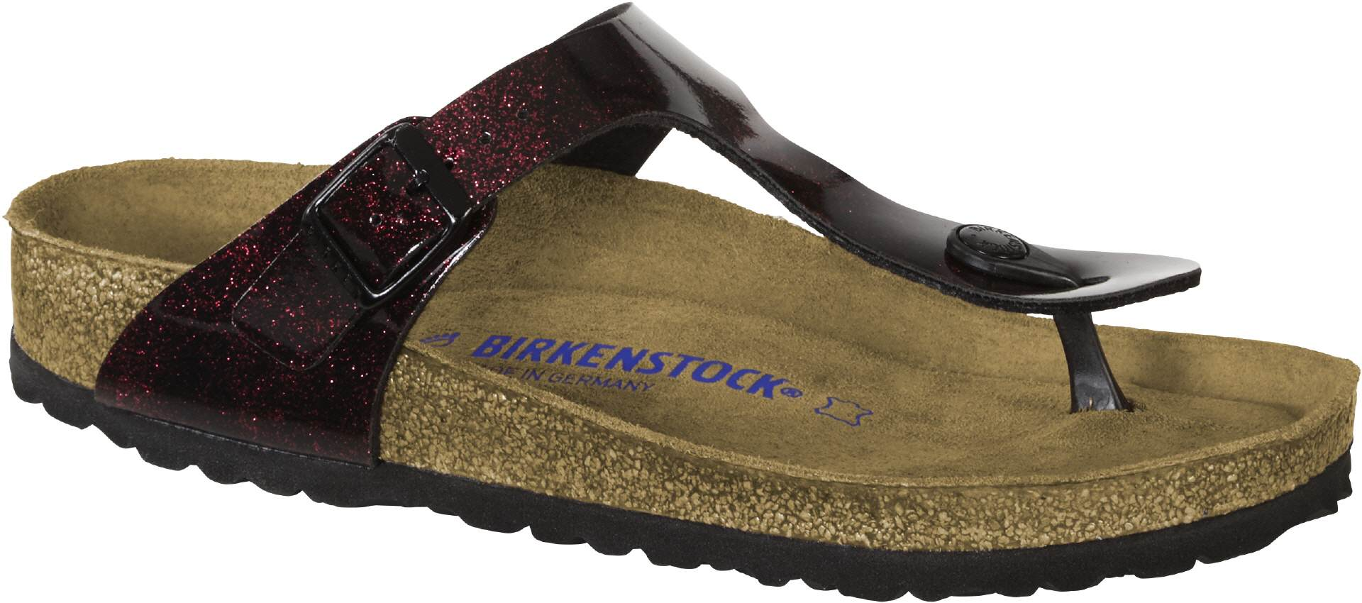 36f3dc7891f Birkenstock Gizeh SFB BF Iride Strong Red